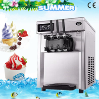 free ship CE desktop ice cream machine soft ice cream machine commercial ice cream machine energy saving compact cone machine A