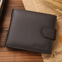 Fashion Leather Men Wallets Solid Sample Style Zipper Purse