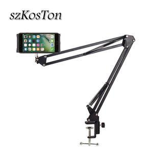 6 to 11inch Mobile phone Tablet Holder Stand For iPad Mini Air Samsung 360 Degree Long