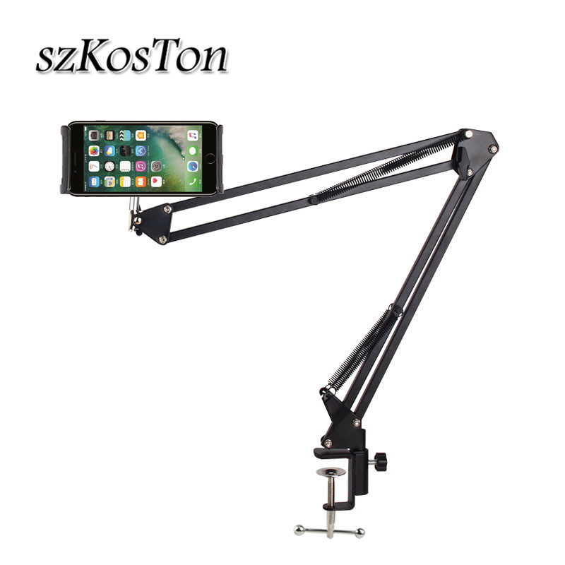 6 to 11inch Mobile phone Tablet Holder Stand For iPad Mini Air Samsung 360 Degree Long Arm Lazy Bed Desk Tablet Mount Support|Tablet Stands| |  - title=