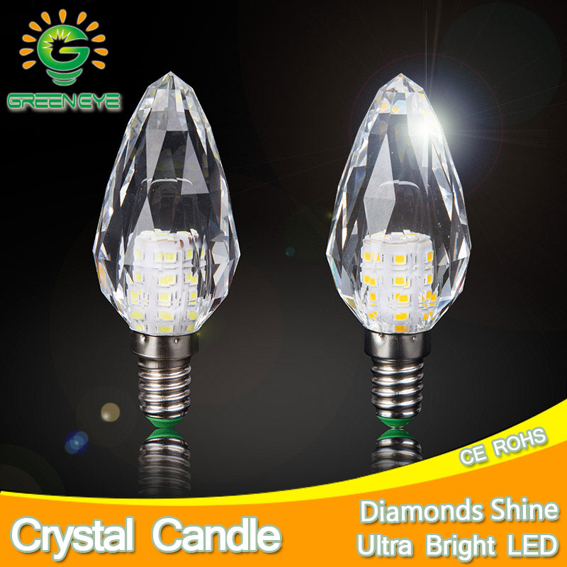 2pcs/lot 168 Surface Crystal LED Lamp Candle Bulb E14 7W 220V LED Light Bulb Cool Warm White Lampada Bombillas Ampoule Lampe led