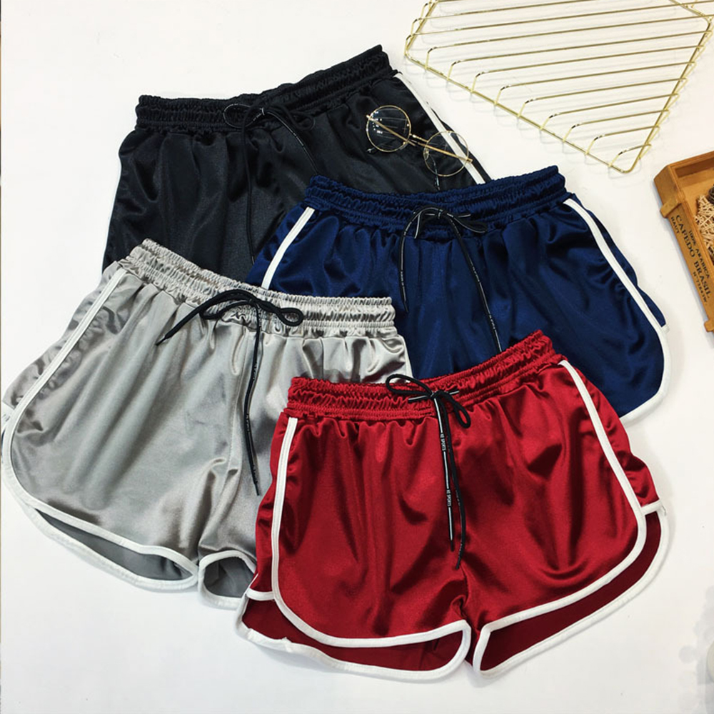 Big Size Casual Fitness Booty   Shorts   Women's Loose Drawstring High Waist Silk   Short   Girls Summer Casual Plus Size   Shorts   4XL 5XL