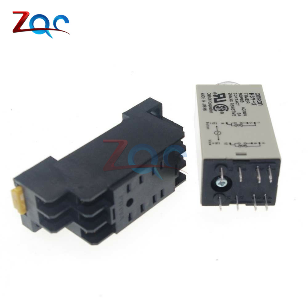 Online Shop 1-30 Minute H3Y-2 Base Power On Time Delay Solid-State ...