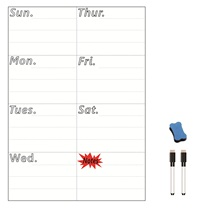 A4 Size Magnetic Weekly Planner Board Dry WIPE Whiteboard Day Fridge Magnet Decor Writing Notepad Marker Eraser