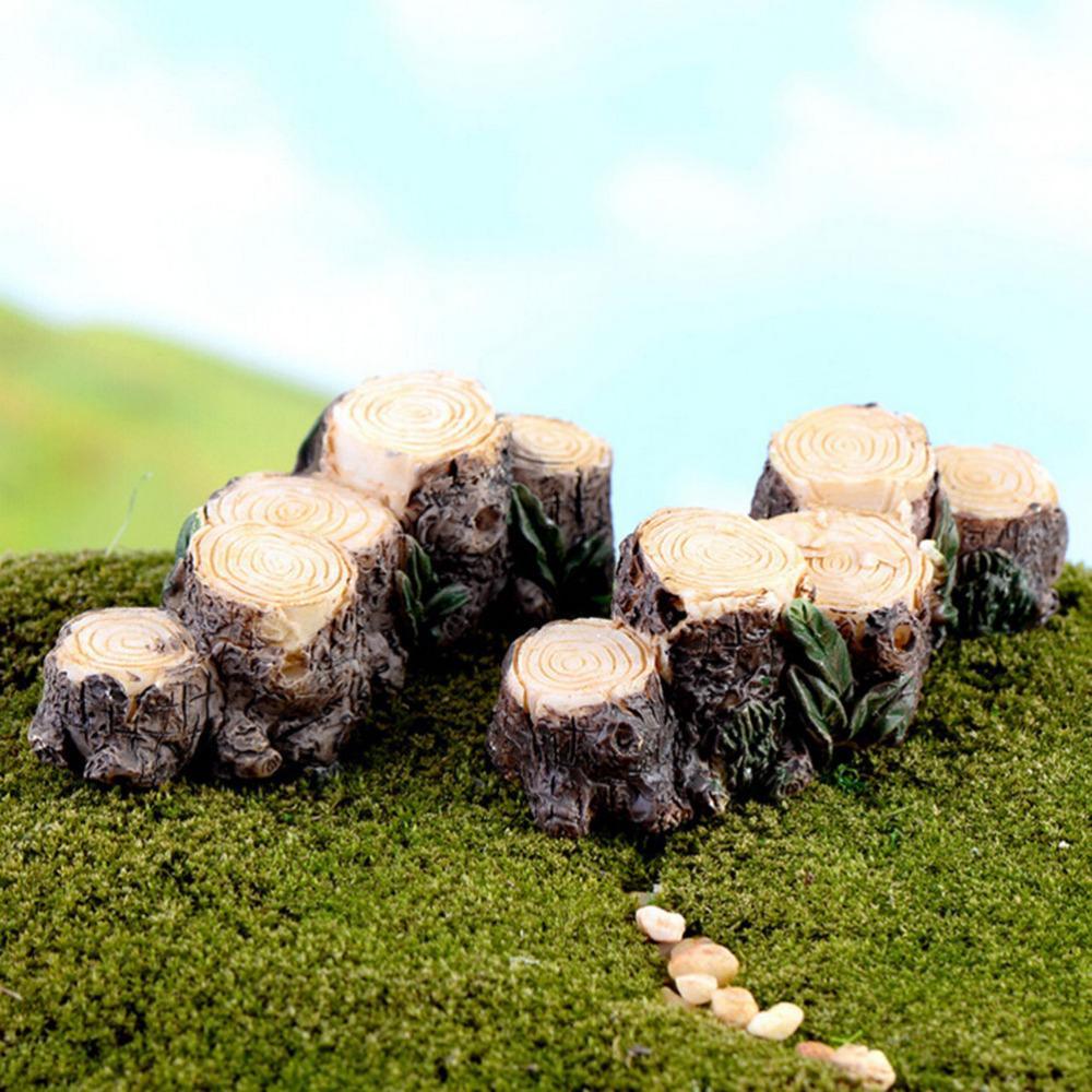 DIY Mini Tree Stump Bridge Model Resin Fairy Garden Miniatures Dollhouse/ Terrarium/ Succulents/ Micro Landscape Decoration