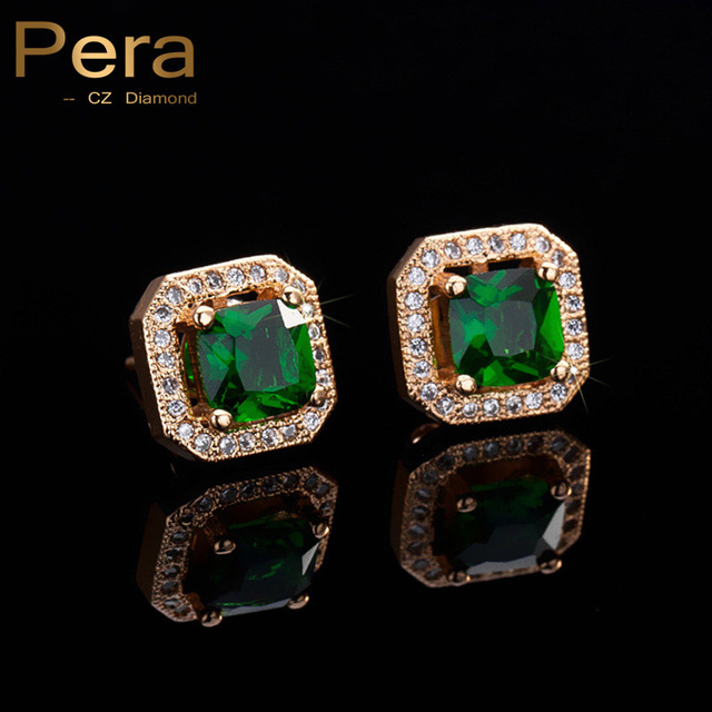 emerald cz cushion sterling stud in green cut silver envious earrings