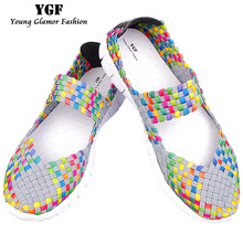 YGF Fashion Flats Shoes Women 2017 Casual Loafers Slip on Women Summer Flat Shoes Loafers Breathable Female Shoes