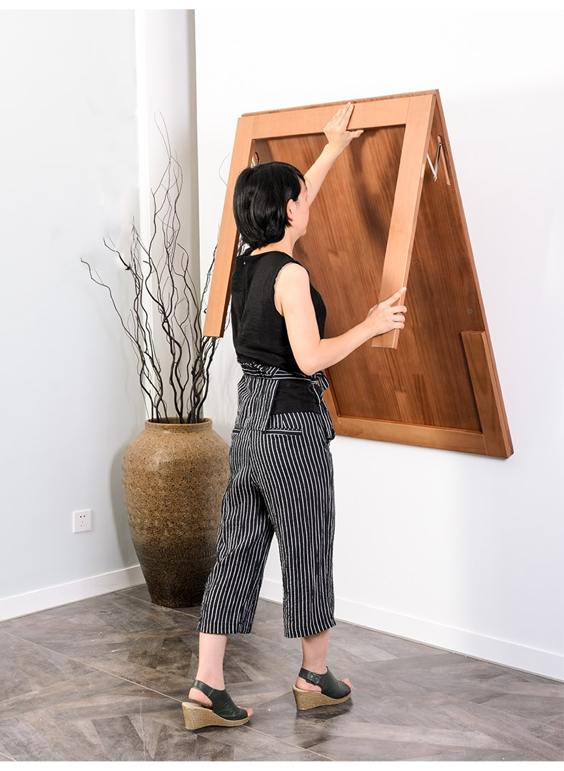 ideas para convertir un apartaestudio comedor de pared plegable