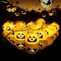 QuickDone Halloween Pumpkin LED String Light 2 5M 10 LED Pumpkin Light Halloween Indoor Outdoor Lights