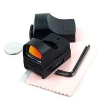 조정 사냥 광학 반사 렌즈 알루미늄 합금 레드 도트 범위 조명 전술 소총 범위