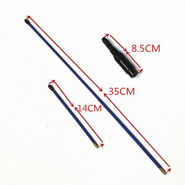 AZUL antena Macio Azul UV dual segmento antena 144/430 MHZ antena para VX 1R, VX 2R, VX 3R, VX 5R, VX 6R