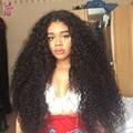 Peruano Crespo Crespo Cabelo Virgem Encaracolado Tecer Cabelo Humano Peruano Encaracolado cabelo Melhor Afro Kinky Curly Cabelo Weave Barato 4 Pacotes JS