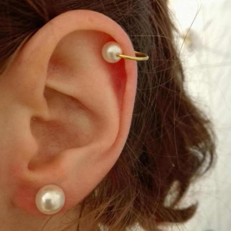 Clip pendiente Boucle D'oreille Bijoux perlas oreja pendientes para mujeres boda y compromiso joyería Oorbellen Brincos