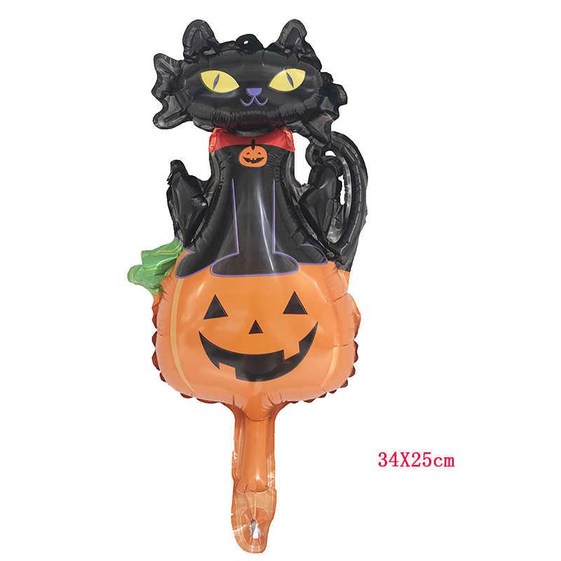 1 pcs 10 סגנונות מיני שחור חתול דלעת בת גולגולת ספקטר ליל כל הקדושים ערב רדיד בלוני דקור מתנפח צעצועי בלון המפלגה supplie