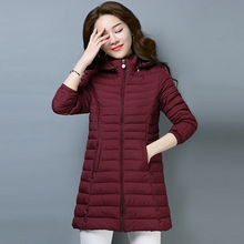 Cotton Coat Female Winter Plus Size Hooded Long Slim Down Jackets Thick Womens Parka Spring Large Jackets XL/2XL/3XL/4XL/5XL/6XL женские пуховики куртки oem 4xl 5xl 6xl l xl 2xl 3xl 4xl 5xl 6xl