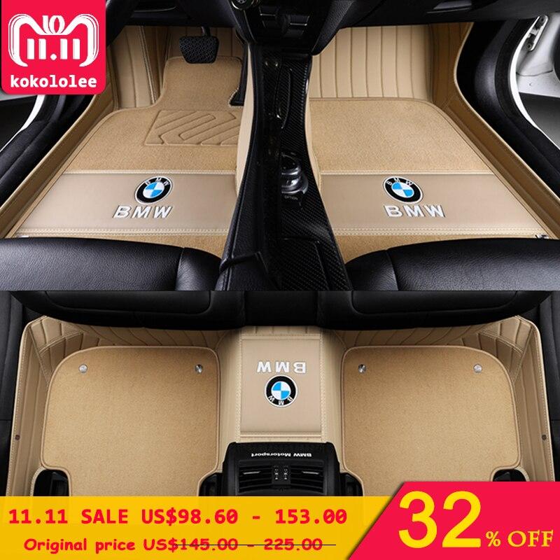 kokololee Custom Car floor mats for BMW 3 5 7 Series E46 E39 E90 E60 E36 F30 F10 F20 E30 E53 X1 X3 X4 X5 X6 G30 F10 F20 F30 F11 custom car floor mats for bmw e30 e34 e36 e39 e46 e60 e90 f10 f15 f20 f30 g30 x1 e84 x5 e53 e70 e87 x3 e83 car mats