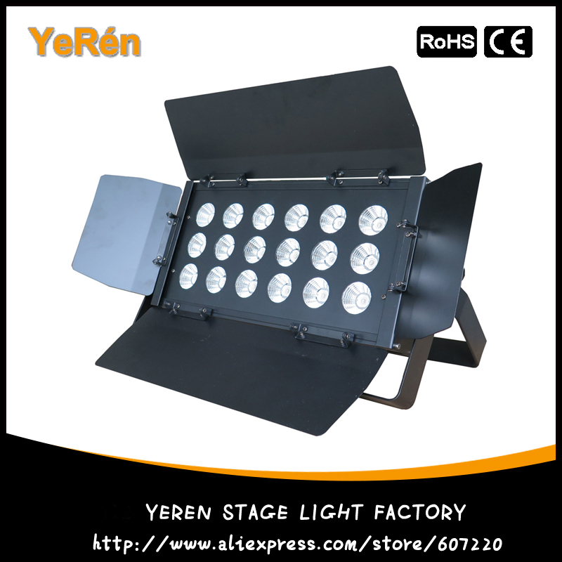 Pro Stage Lighting LED Blinder LED Wash Light with 18Pcs 20W RGB Tri-Color COB LED show plaza light stage blinder auditoria light ww plus cw 2in1 cob lamp 200w spliced type for stage