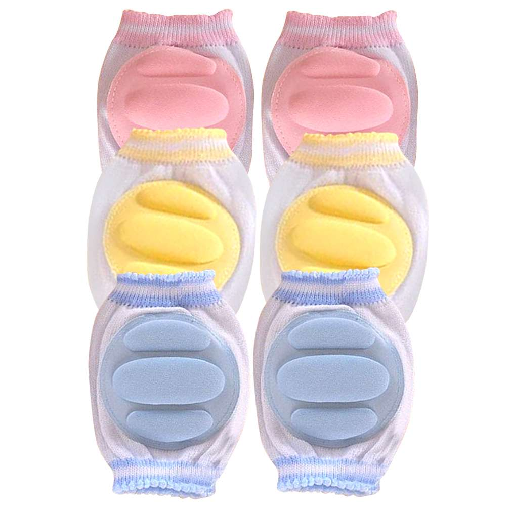 Hot! Newborn Baby Safety Crawling Elbow Cushion Toddlers Knee Pads Protector Pink and Yellow New Sale