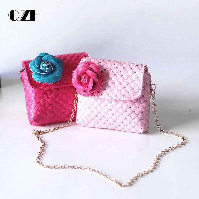 59949d598045 QZH Baby Girls Mini Messenger Bag Child Cute Princess Bag Girl Small Coin Purses  Children Handbags Kids Flower Shoulder Bags
