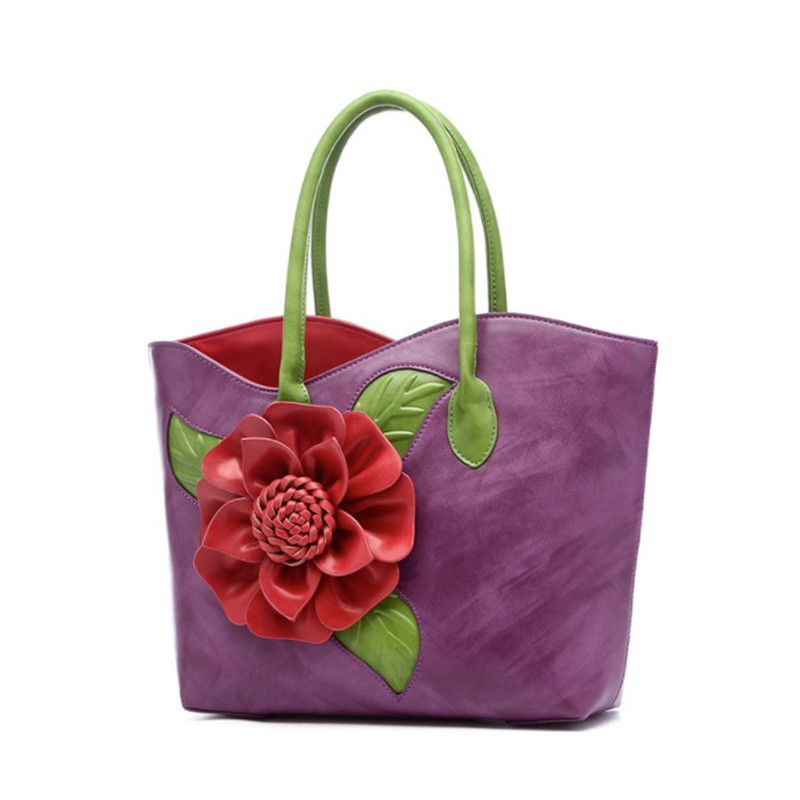 sac a main femme de marque luxe cuir 2018 New three-dimensional large flower mobile Messenger bags handbags women famous brands