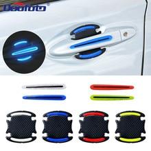 Doofoto 3D Светоотражающая Предупреждение ющая полоса бампера дверная ручка Чаша крышка наклейка отражатель автомобиля внешние аксессуары универсальные