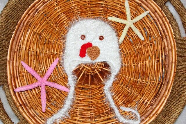 Sale Crochet Fuzzy Baby Chicken Hat Cartoon Newborn Photo Prop