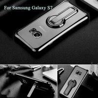 Eleoption Souple TPU Caoutchouc Gel Silicone Cover Case Béquille Pour Samsung Galaxy S7