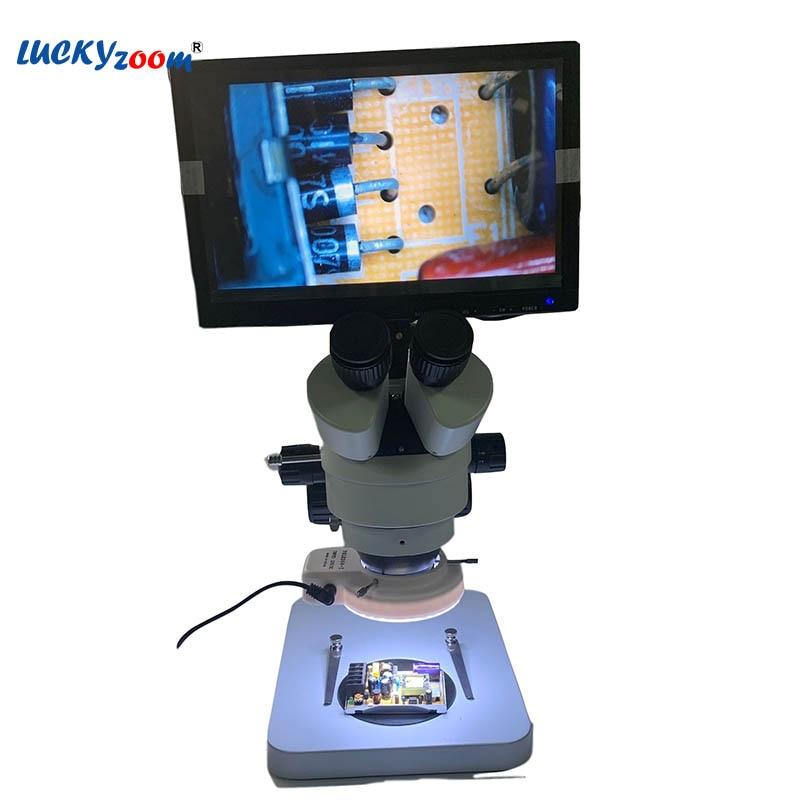 7X 45X Soldering Microscope HDMI Monitor Trinocular Microscope Stereo Zoom Microscopio 14MP HDMI Camera Repair Phone Mikroskop