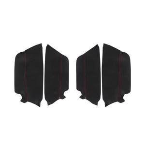Image 2 - For Toyota Prado 2010 2011 2012 2013 2014 2015 2016 2017 2018 4pcs/set Car Door Handle Armrest Panel Microfiber Leather Cover