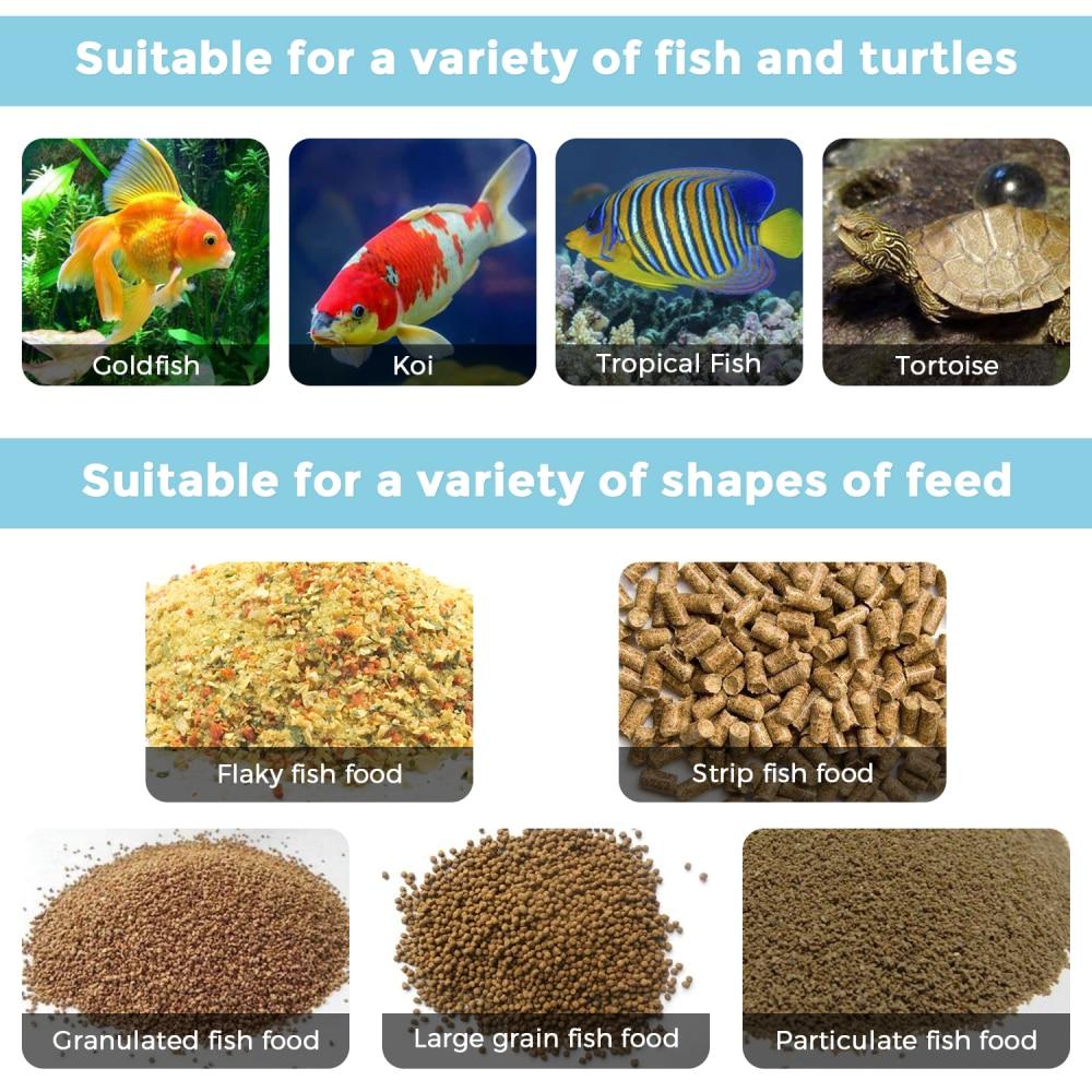 alimentos para casa tanque de aquário alimentador
