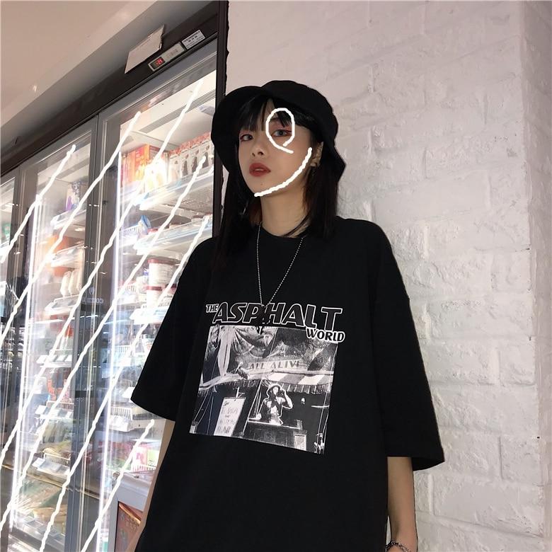 Mens Mixed Color Short Sleeves Loose Hip-hop Vintage Retro Street Dance T-shirts