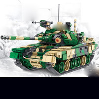 Panlos 632005 Military Tank The T 90 Main Battle Tank Set Building Blocks Bricks Tanks Model Enlighten Kid Toys Christmas Gifts
