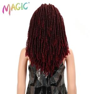 Image 4 - MAGIC Hair 22 Inch Synthetic wigs Dreadlocks Braid Hair Synthetic Dreads Braiding wigs Extension Brown Braids Faux Locs Hair