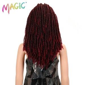 Image 4 - MAGIC Hair 22 Inch Synthetische pruiken Dreadlocks Vlecht Haar Synthetische Dreads Vlechten pruiken Extension Bruin Vlechten Faux Locs Haar
