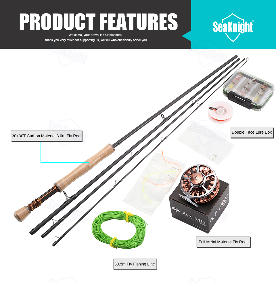 De Carbono Fly Rod Combo 3.0 m