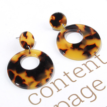 CHENFAN Color partial Round Earrings Handmade acetate Korea pendant ear jewelry accessories package material earrings for women
