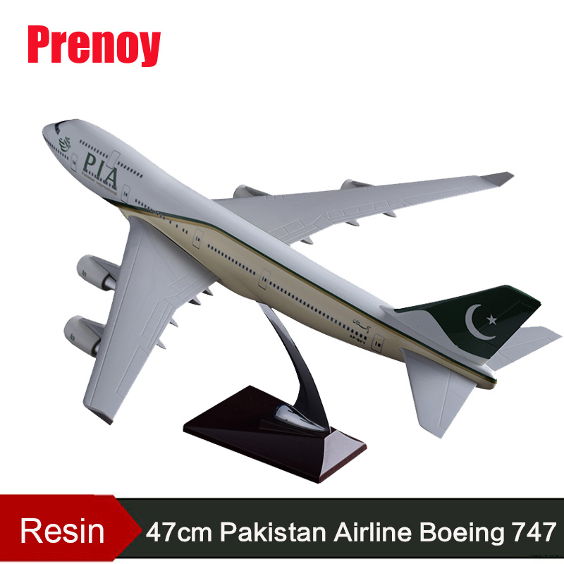 47cm Boeing 747 Pakistan Aircraft Model Resin B747 PIA Airlines Airplane Airways Model Aviation Airbus Pakistan 747 Plane Model offer wings xx2456 special jc portugal airlines cs tjg 1 200 a321 commercial jetliners plane model hobby
