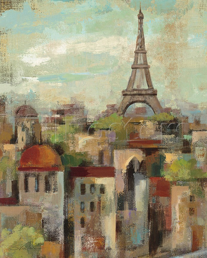 Us 68 53 23 Off Hot Sell Abstract Art On Canvas Oil Painting Landscape Spring In Paris By Silvia Vassileva Painting High Quality Hand Painted In