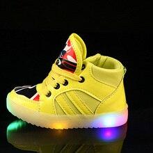 Моды Свет Повседневная 4 Цвета Дети Кроссовки Детей LED Shoes Световой Кроссовки Противоскользящие Мальчик/Девушки Светящиеся Детей Shoes