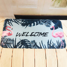 Door Mat Anti Slip Floor Living Room Coral Fleece Carpets Doormat Leaf Kitchen Bedroom Rugs Bathroom Hallway Absorbent