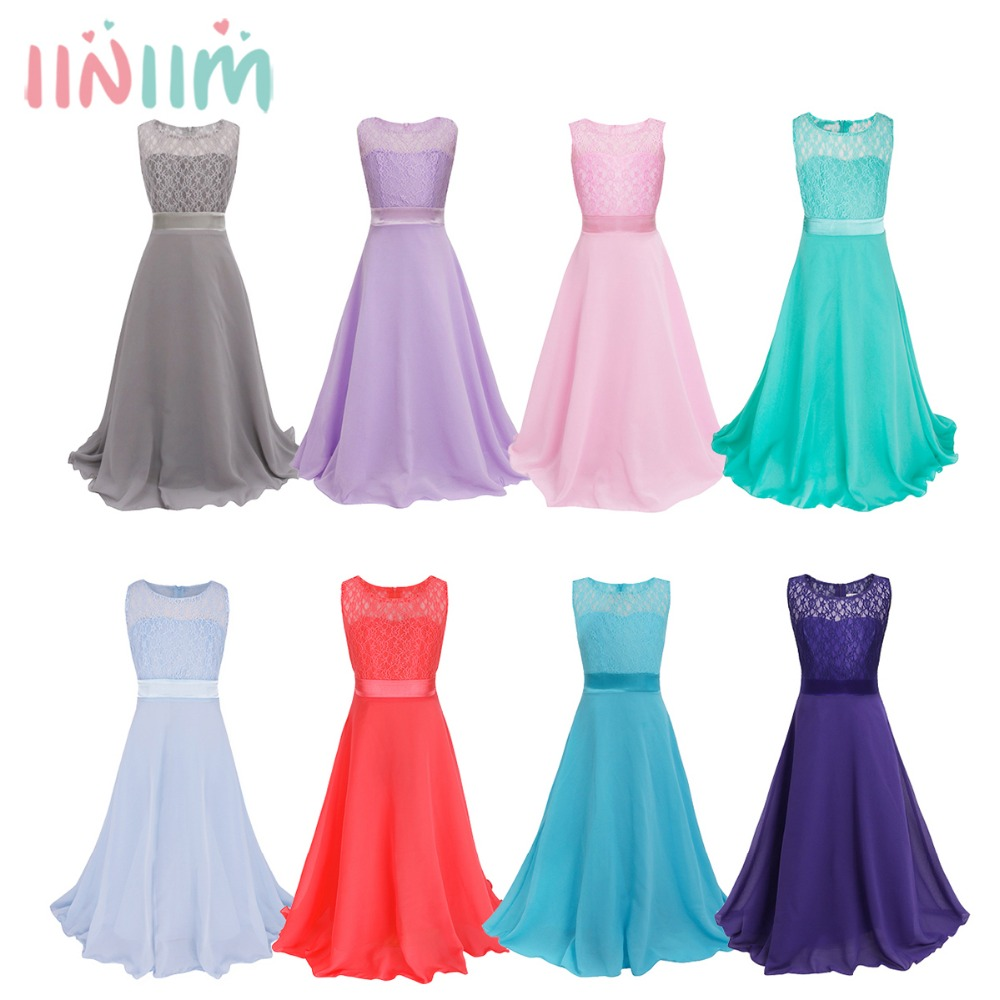 2017 New Year Prom Dresses for Girl Clothes First Communion Kids Chiffon Princess Weeding Hot Party Dress Princess Girls Dress 2017 new beading lace v neck flower girl dress baby prom girls dress holy first communion dress kids birthday princess dresses