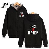 Wiz Khalifa Thick Sweatshirt Hip Pop Hoodie Winter High Quality Cotton Hoodies Zipper Sweatshirts Fashion Print