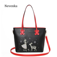 Nevenka Christmas Gift Top Handle Women Bag Crossbody Bag Female Shoulder Strap Ladies Solid Color Tote