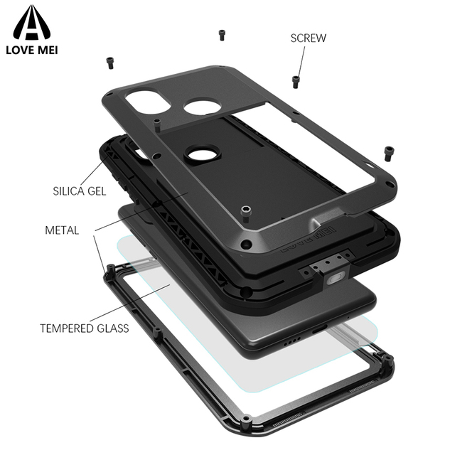 separation shoes 6fb3f 33d94 US $28.0 20% OFF|Love Mei Case For Xiaomi Mi MIX 2S MIX2S Cover Metal Armor  Shockproof Case For Xiaomi Mi MIX 2S MIX2S Aluminum Waterproof Cover-in ...
