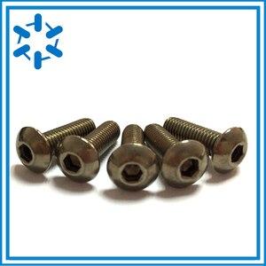 Image 3 - 50pcs Pure Titanium button head socket screw Ti GR2 ISO7380 M3*3/4/5/6/8/10/12/14/15/16/18/20/22/23/24/25/26/27/35/40/44/45/50