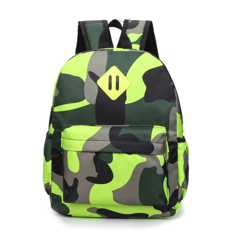 RUIPAI Children Shoulder Bag Boys and Girls Pack Personalized Camouflage Backpack Primary School Students Breathable Schoolbags