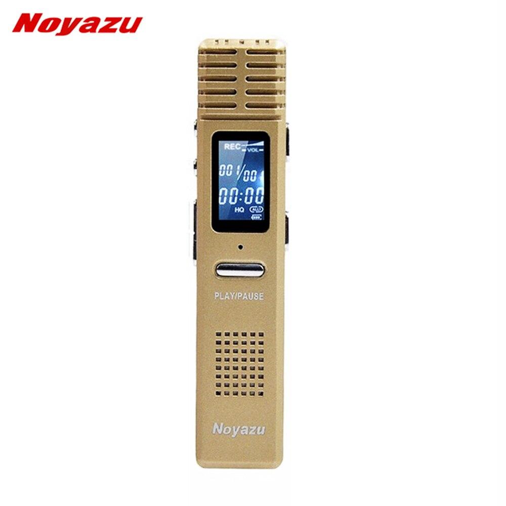 NOYAZU X1 8 GB Professionnel Numérique Enregistreur Vocal Voix Activé Dictaphone 550 heures Long Temps D'enregistrement Mp3 Cadeaux D'affaires Or
