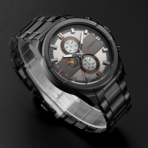 Image 5 - New Curren Luxury Brand Watches Men Quartz Fashion Casual Male Sports Watch Full Steel Military Watches Relogio Masculino