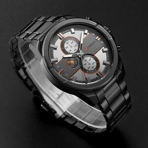 Image 5 - 新しいカレン高級ブランド腕時計男性クォーツのファッションカジュアル男性スポーツ時計フルスチールミリタリー腕時計レロジオmasculino