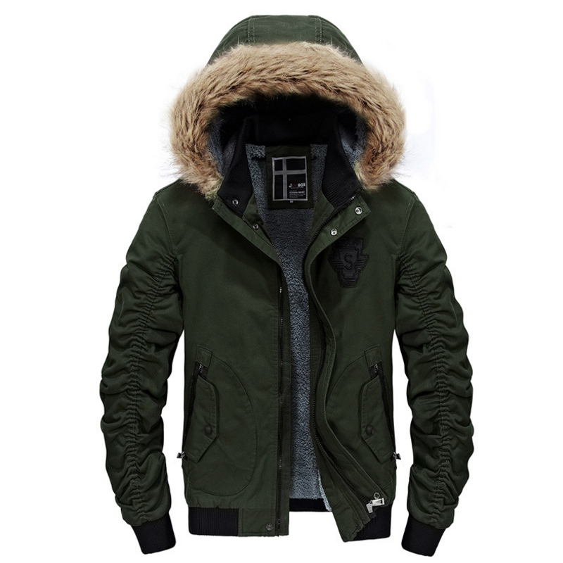 Winterjacke für Männer Abnehmbare Kapuze Jacke Mit Fell Innen Solide Warme  Windjacke Jacken Warme Winter Jacken und Mäntel Männer in Winterjacke für  Männer ... ded475628a
